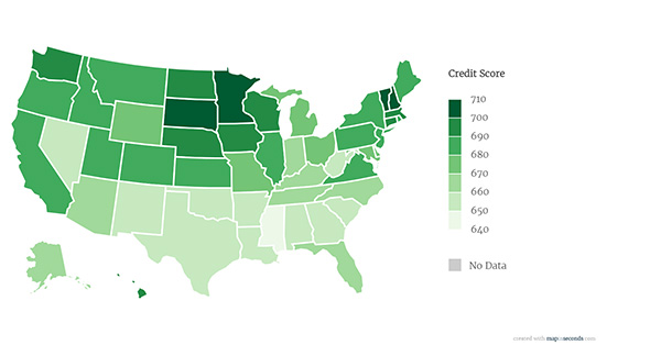 Map Credit Scores